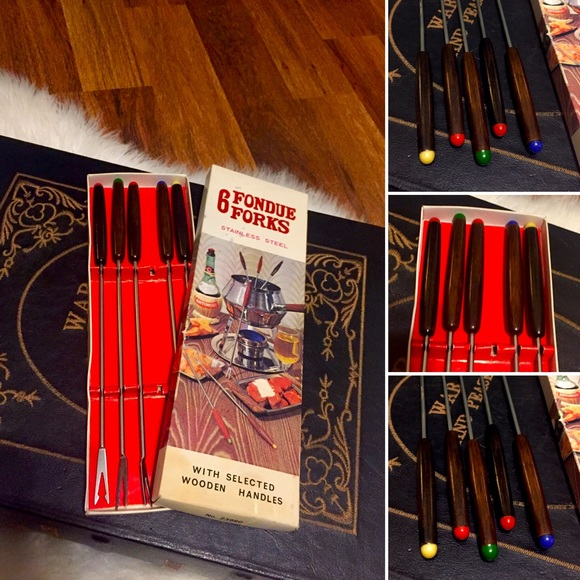 🦋2/$10 3/$15 4/$18 5/$20 MCM Fondue Forks